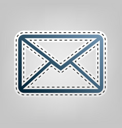 Letter sign blue icon with vector