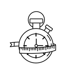 Line chronometer with measuring to practice vector