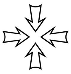 Minimize arrows stroke icon vector