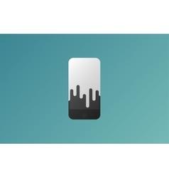 Mobile phone shop logo design template vector