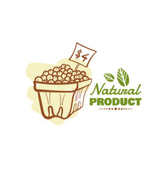 natural product design badge vector image vector image