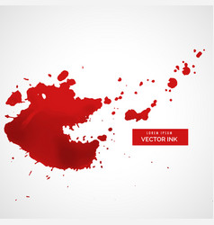 Red splatter stain background vector