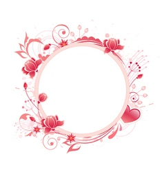rose round banner vector image vector image
