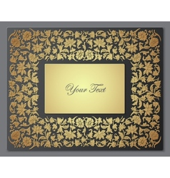 Save the Date Floral Card Border Frame vector image