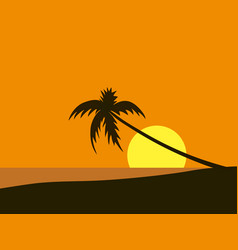 Seaside view poster beach wallpaper vector
