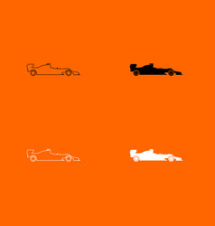 Silhouette of a racing car icon vector
