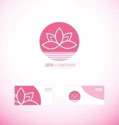 Spa wellness lotus flower logo vector image