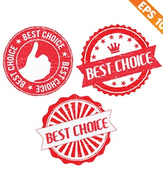 Stamp sticker Best Choice collection - - EP vector image vector image