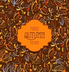 Tansy twigs pattern Orange brown autumn vector image vector image