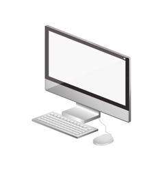 Tech computer screen keyboard mice vector