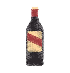 wine bottle icon image vector image