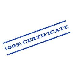 100 percent certificate watermark stamp vector