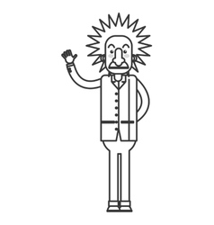 Albert einstein cartoon icon vector