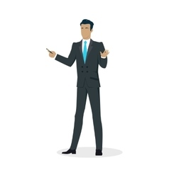 Businessman with pointer vector