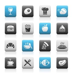 Food icons 1 matte series vector