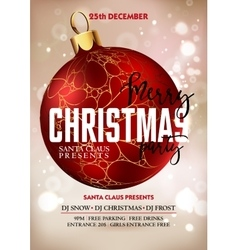 Merry christmas party poster design vector