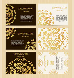 Business cards 35 x 25 inch size set golden vector