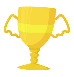 Winner cup icon cartoon style vector