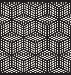 Cubic grid tiling endless stylish texture vector