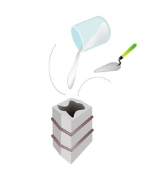 Plaster of paris in a shell molding vector