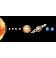The Solar System vector image