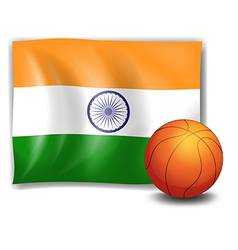 The flag of india with a ball vector