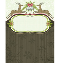 Grunge background with christmas elements and one vector