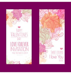 Valentines day background set of banners vector
