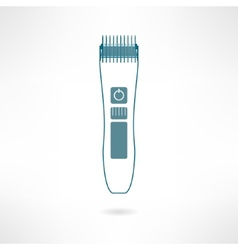 Hair trimmer and styler in modern flat design vector