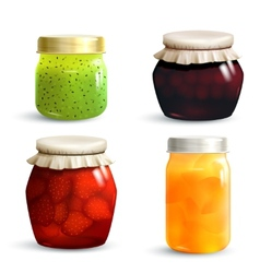 Jam Jar Set vector image