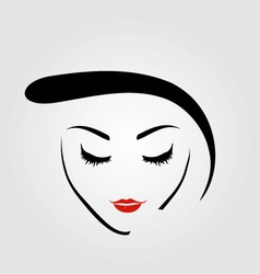 Graphic of a woman with vintage hairstyle vector
