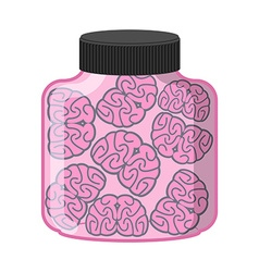 Many brain in jar laboratory research organ vector