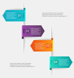 Abstract 3d digital infographic can be used for vector