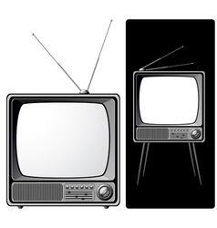 Two retro tvs vector