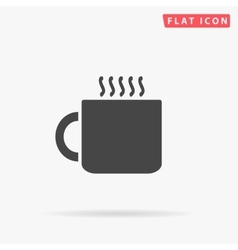 Hot cup simple flat icon vector