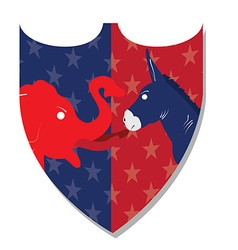 Democrat and Republican vector image