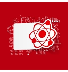 Drawing business formulas atom vector