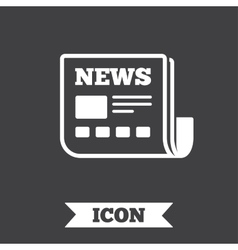 News icon newspaper sign mass media symbol vector