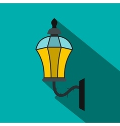 An old lamp in London icon flat style vector image