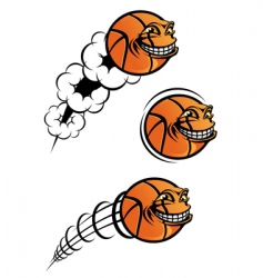 basketball symbol vector image vector image