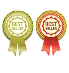 Bestseller Label eps 10 vector image vector image