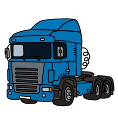 Blue towing truck vector