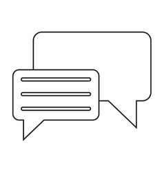 Bubble speech message discussion outline vector