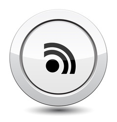 Button with Rss Icon vector image vector image