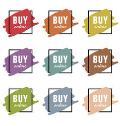 buy online icon set vector image vector image