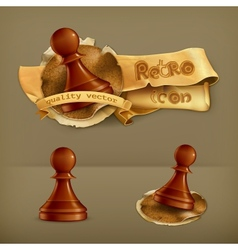 Chess Pawn icon vector image vector image