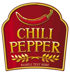 Chili pepper label vector