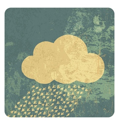 cloud grunge icon vector image