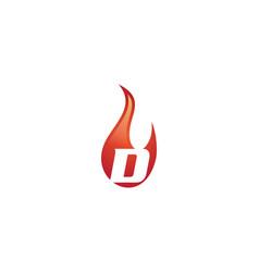 d letter flame logo vector image vector image