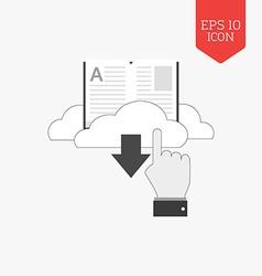 Download e-book icon flat design gray color symbol vector